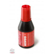 Краска штемпельная Kores 27 мл водная основа красная Арт. K71026 71328