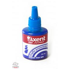 Краска штемпельная Axent 30 мл водная основа синяя Арт. 7301-02-А
