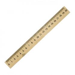 Линейка Мицар 20 см деревянная Арт. 22265, 205275
