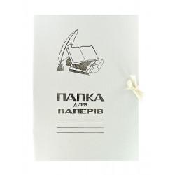 Папка на завязках картонная А4