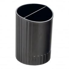 Стакан для ручек BuroMax Jobmax 2 отделения пластик черный Арт. BM.6350-01