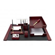 Набор офисный настольный Bestar 9 предметов красное дерево Арт. 9280WDM