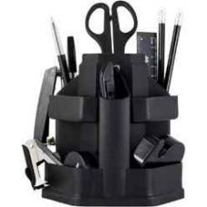 Набор настольный BuroMax 16 предметов пластик черный Арт. ВМ.6302-01