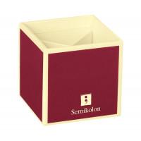 Подставка для карандашей Semikolon 4 отделения 9х9х9 см цвет бордовый Арт. 35700-05