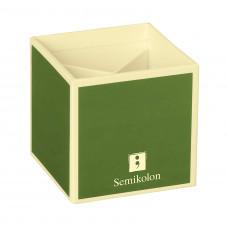 Подставка для карандашей Semikolon 4 отделения 9х9х9 см цвет лайм Арт. 35700-12