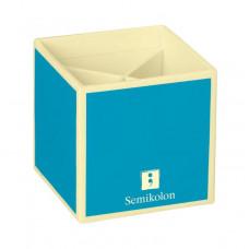 Подставка для карандашей Semikolon 4 отделения 9х9х9 см цвет бирюзовый Арт. 35700-19
