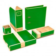Набор канцпринадлежностей Semikolon 5 предметов цвет лайм