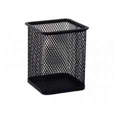 Стакан для ручек Axent квадратный металл. сетка черный 80х80х100 мм Арт. 2111-01-A