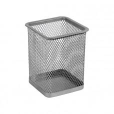 Стакан для ручек Axent квадратный металл. сетка серебро 80х80х100 мм Арт. 2111-03-A