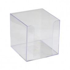 Бокс для бумаг Delta by Axent 9х9х9 см пластик прозрачный Арт. D4005-27