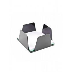 Бокс для бумаг КИП 9х9х4, 5 см пластик черный