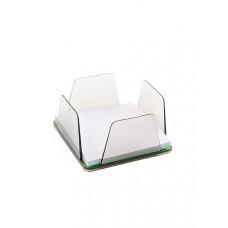 Бокс для бумаг КИП 9х9х4,5 см пластик дымчатый