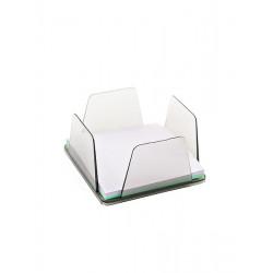 Бокс для бумаг КИП 9х9х4, 5 см пластик дымчатый