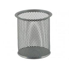 Стакан для ручек BuroMax круглый металл. сетка серебристый Арт. ВМ.6202