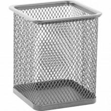 Стакан для ручек BuroMax квадратный металл. сетка серебро Арт. BM.6201-24