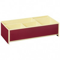Короб для мелкой канцелярии Semikolon 26,8х16 см цвет бордовый Арт. 36000-05