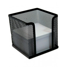 Бокс для бумаг BuroMax 10х10х10 см металл. сетка черный Арт. BM.6215-01