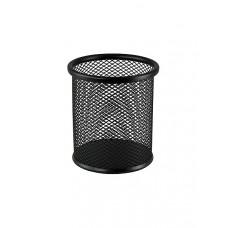 Стакан для ручек BuroMax круглый металл. сетка черный Арт. ВМ.6202-01