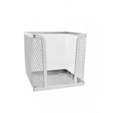 Бокс для бумаг BuroMax 10х10х10 см металл. сетка серебристый (BM.6215-24)