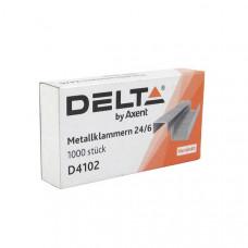 Скоба для степлера №24/6 Delta by Axent 1000 шт  (D4102)