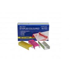 Скоба для степлера BuroMax №10 цветная 1000 шт Арт. ВМ.4421