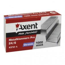 Скобы для степлера  Axent Pro №24/6 1000 штук (4312-А)