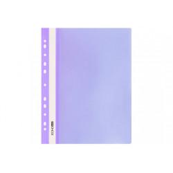 Скоросшиватель с прозрачным верхом Economix А4 с перфорац. пластик фиолетовый глянец Арт. E31510-12