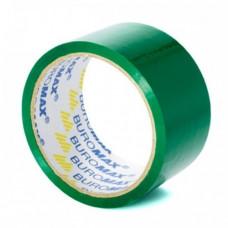 Лента клейкая упаковочная BuroMax 48 мм х 35 метров  зеленая (BM.7007-04)