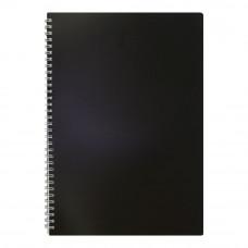 Тетрадь А4 80 листов BuroMax клетка на пружине пластиковая обложка черная  Арт. ВМ.2446-001