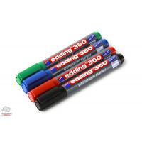 Набор маркеров для сухостираемой доски Edding 1,5-3 мм 4 цвета Арт. Е360/4