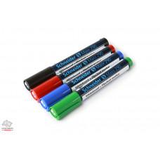 Набор маркеров для флипчарта и сухостираемой доски Schneider 290 1-3 мм 4 цвета Арт. S129094