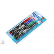Набор перманентных маркеров Centropen 2,5 мм 4 цвета Арт. 8566/04