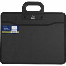 Портфель пластиковый BuroMax В4 пластиковый 2 отделения черный  (BM.3733-01)