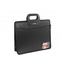 Портфель пластиковый Axent В4 на молнии 3 отделения черный Арт. 1603-01-А