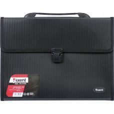 Портфель пластиковый Axent А4 3 отделения черный Арт. 1601-01-А