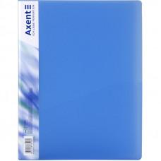 Папка с прижимом Axent А4 Clip B пластик цвет синий Арт. 39665 1301-22-A