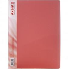 Папка с прижимом Axent А4 Clip B пластик цвет красный  39668 (1301-24-A)