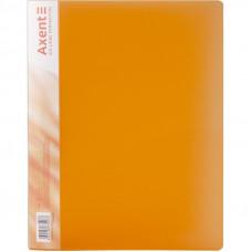 Папка с прижимом Axent А4 Clip B пластик цвет оранжевый  39669 (1301-25-A)