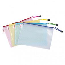 Папка-конверт Axent А4 прозрачная с цветной молнией Арт. 1406-00-А