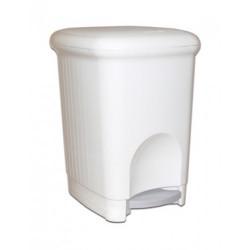 Корзина для мусора с педалью Meliconi 16 л пластик белый Арт. M 816W