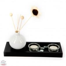 Подсвечник декоративный 2 свечи + ваза Арт. YD325