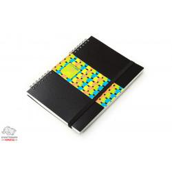 Блокнот Economix А5 100 листов боковая спираль пласт. обложка с резинкой Арт. E20322