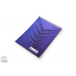Блокнот BuroМax JOBMAX А5 верхняя пружина 48 листов синий Арт. BM.2474-02