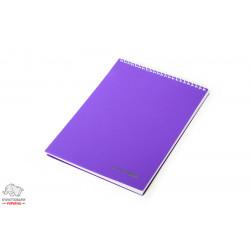 Блокнот Eсonomix А5 верхняя спираль 80 листов обложка пластик Арт. E20320
