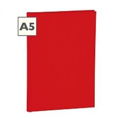 Блокнот А5 Semikolon Classic 80 листов в линию обложка полотно цвет красный Арт. 023-04