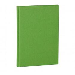 Блокнот А5 Semikolon Classic 80 листов в линию обложка полотно цвет лайм Арт. 023-12