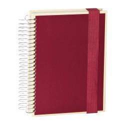 Блокнот А5 Semikolon Mucho 330 листов 3 линовки боковая спираль на резинке цвет бордовый Арт. 13200-05