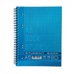 Блокнот Графика А5 80 листов на спирали крафт картон Арт. КВ5580