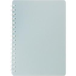 Блокнот для записей BuroMax CLASSIC А6 на спирали пластиковая обложка серый Арт. ВМ.2589-009