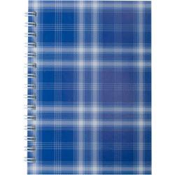 Блокнот BuroМax А6 боковая спираль 48 листов картонная обложка синяя Арт. BM.2592-02